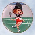 Red Skelton Love That Freddie plate