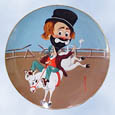 Red Skelton Bronco Freddie plate