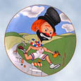 Red Skelton Freddie The Torchbearer plate